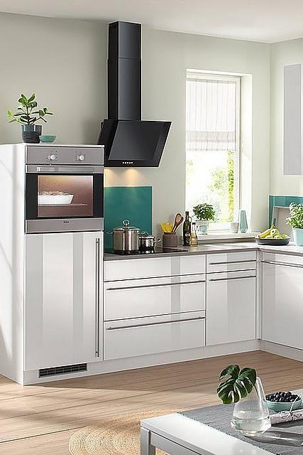 WIHO KÜCHEN Küchenzeile mit E-Geräten »Winkelküche Chicago ...
