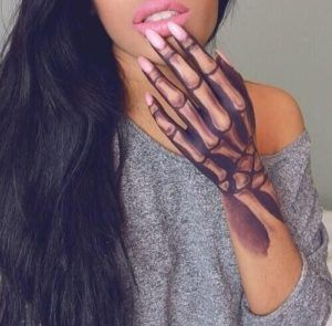 Big And Tiny Hand Tattoo Hand Tattoos For Women Small Hand Tattoos Hand Tattoos