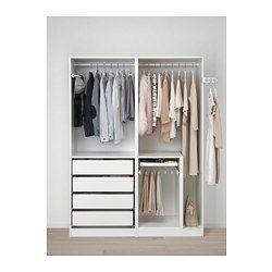 Scarpiera Guardaroba Pax Ikea.Pax Guardaroba Bianco Interiores De Armarios Interior Armario