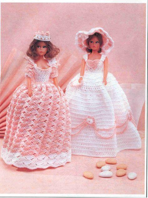 Spanish Rose Dress /& Mantilla fits Barbie Doll Crochet PATTERN Leaflet
