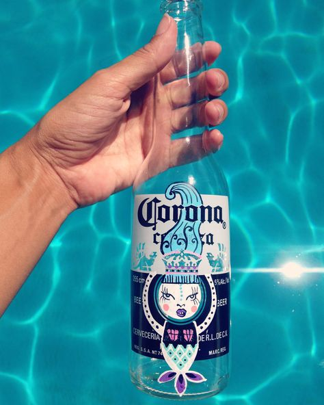 Corona beer intervention by Alinet Mermaid  @alinet.oficial