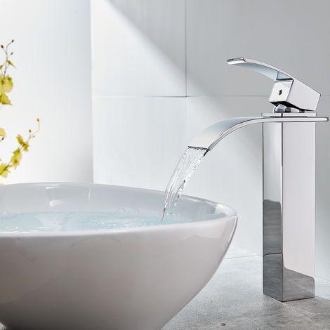 Wasserhahnn Bad Design Verlangerte Einhebel Waschtischarmatur Armatur Wasserfall Einhandmischer Fur Badzimmer Nvt601h In 2020 Waschtischarmatur Bad Design Und Armaturen