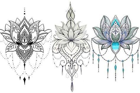 Fiore Di Loto Tattoo Disegno.Disegni Del Tatuaggio Del Fiore Di Loto 30 Modelli Disegno