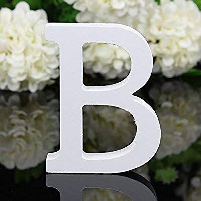 Bodhi2000 White Wooden Letters Alphabet