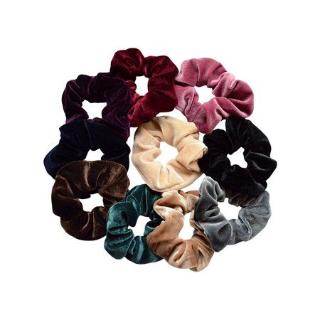 10Pcs Women Girl Hairband Scrunchie Hair Band Rope Elastic Tie Ponytail Holder