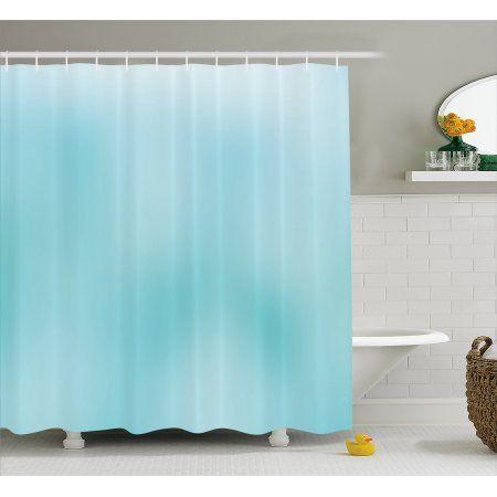 Seafoam Shower Curtain Abstract Modern Art Inspired Illustration