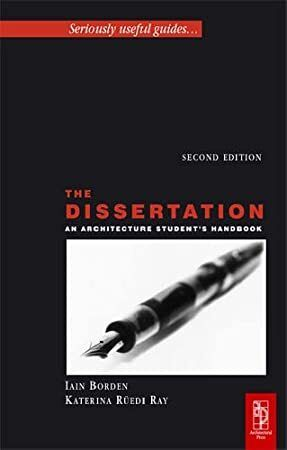 Read Book The Dissertation An Architecture Student S Handbook Amazon To