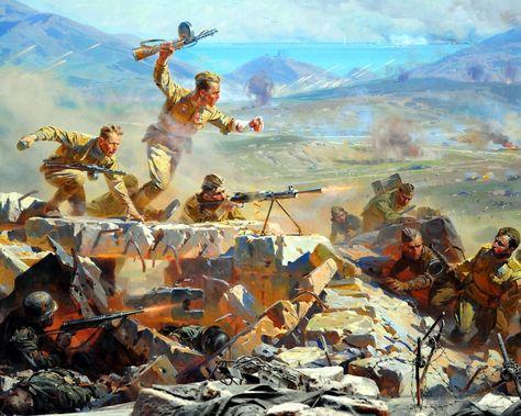 Soviet assault on Mount Sapun, during the recapturing of Sevastopol .