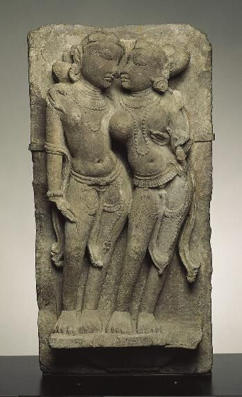 Amorous Couple, late 11th century India: Madhya Pradesh, 1001-1100 Sandstone 26-1/6 x 14 in. (66.5 x 35.6 cm) The Norton Simon Foundation F.1972.19.4.S