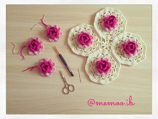 وحدات ورد روز Crochet Earrings Crochet Blog