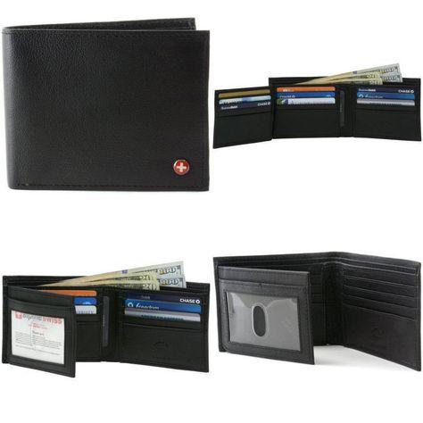7028f8d7e Alpine Swiss Hombre cartera de cuero genuino sección 12 ranuras para  tarjetas Flip a ventana ID | Ropa, calzado y accesorios, Accesorios para  hombre, ...