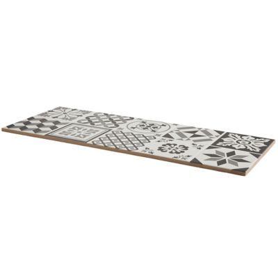Carrelage Mur Decor Carreaux De Ciment Gris Konkrete 20 X 50 Cm