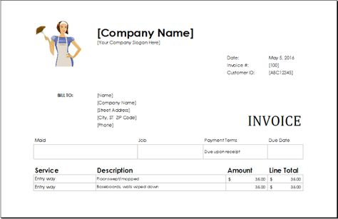 Download Ms Excel Service Invoice Templates - Download Free - invoice for self employed