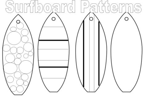 Surfboard coloring pages to download and print for free | Crafts ...