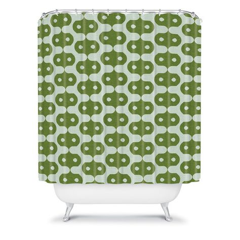 Holli Zollinger Climbing Green Shower Curtain Green Chartreuse