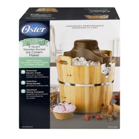 Oster 4-Quart Wood Bucket Ice Cream Maker