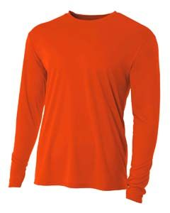 A4 N3165 Men S Long Sleeve Cooling Performance Crew Ad Men