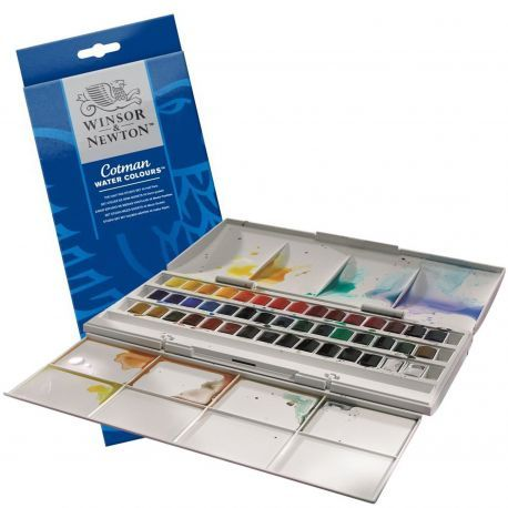 Winsor Newton Cotman Watercolour Studio Set 45 Half Pan