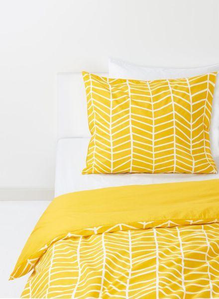Moderne housse de couette - coton doux - jaune imprimé jaune - 1000014087 EN-26