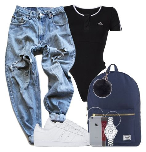 A fashion look from October 2016 featuring ripped boyfriend jeans, cotton jersey and high top tennis shoes. Browse and shop related looks. Cute Swag Outfits, Dope Outfits, Retro Outfits, Stylish Outfits, Teen Fashion Outfits, Girl Outfits, Summer Outfits, Gothic Fashion, Looks Hip Hop