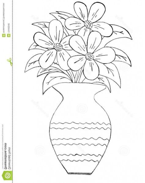 Flowers Vase Drawing Pencil 21 New Ideas Flower Vase Drawing Flower Drawing Flower Sketches