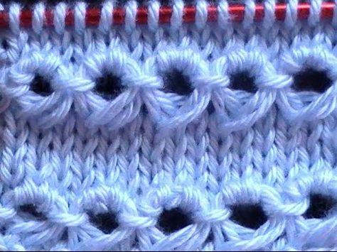 ▶ Como Tejer Punto Peruano Tradicional-Broomstick Loop Stitch 2 Agujas (120) - YouTube