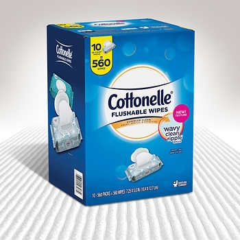 Cottonelle Fresh Care Flushable Wipes, 560 Wipes | Cabinet