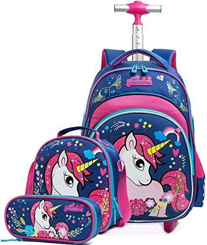 Enjoy Exclusive For Htgroce Girls Rolling Backpack Trolley School