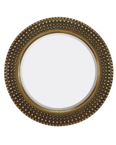 Leroux Round Mirror Silver Antique Mirror Antique Mirror