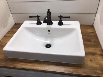 Uploaded Photo Rectangular Sink Bathroom Farmhouse Bathroom