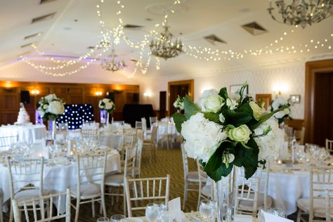 Wedding reception decoration #surreywedding #pennyhillpark #weddinginspiration #weddingflowers #weddingdecor #greenandwhitwedding #weddingphotographer #weddingceremony #weddingplanning #wedding #weddingdesign #countrywedding #weddingreception #weddingbreakfast #fairylightceiling