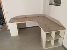 Ikea expedit schreibtisch  Ikea Regal Expedit Schreibtisch Laminaten ähnliche tolle Projekte ...