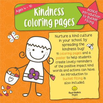 Kindness Coloring Pages Kindness Activities Posters Distance Learning Kindness Activities Kindness Projects Kindness