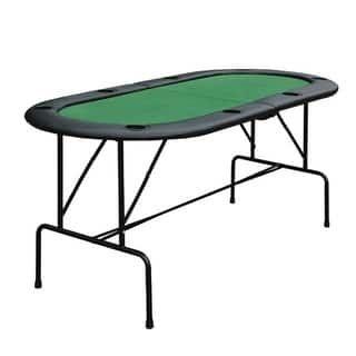 Homcom Oval Folding Blackjack And Poker Table With Eight Cup Holders Poker Table Folding Poker Table Table Games