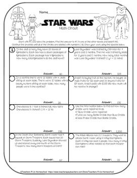 Star Wars Math May The 4th Be With You Star Wars Classroom Math Worksheet May The 4th Be With You
