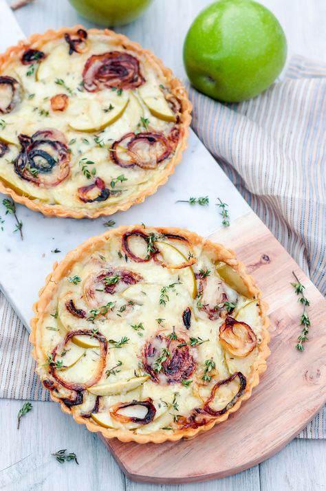 Savory Le Thyme Tart A Fall Inspired Vegetarian With Creamy Creme Fraiche Base Topped Caramelized Onion Fresh Chunks And Gruyere