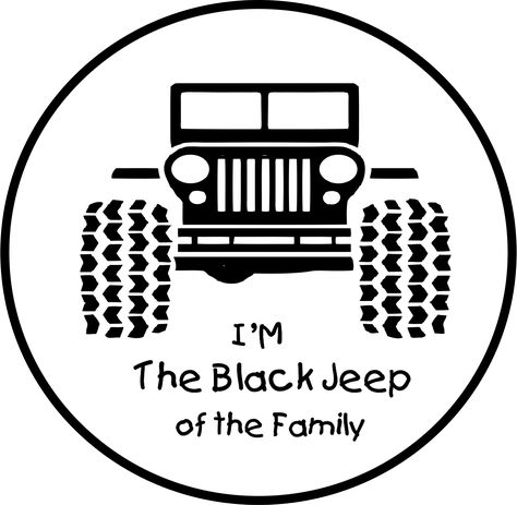 I/'M The Black Jeep of The Family Tire Cover