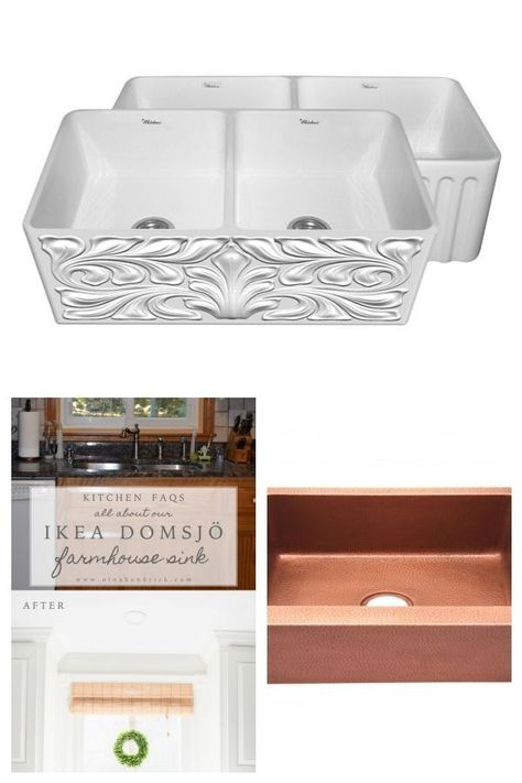 Reversible Series 33 Inch Double Bowl Fireclay Farmhouse Sink