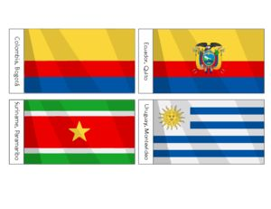 South American Flags Printables For Kids   #Flags #activity #classroom