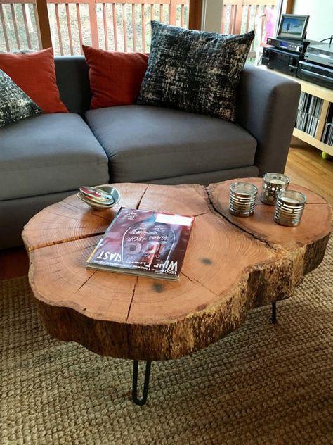live edge oak coffee table by virginialiveedge on etsy living room rh pinterest ca