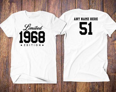 1968 birthday shirt 51st birthday shirt | Etsy
