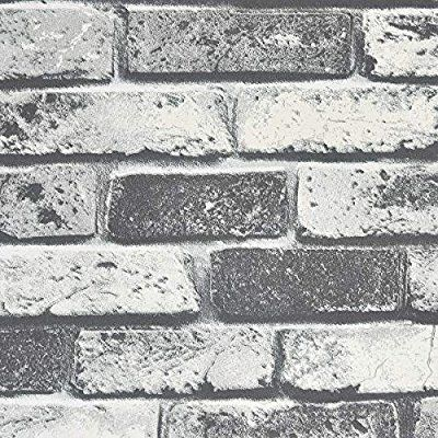 Symoden 15 8 X 78 8 Brick Peel And Stick Wallpaper Faux Brick Textured Wallpaper Removable Self Adhesive White Gr Faux Brick Brick Texture Textured Wallpaper