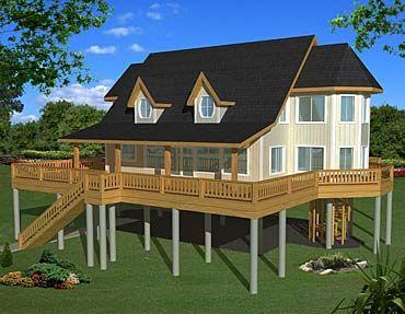 Spokane Coastal Home Plans In 2020 Stilt House Plans House On Stilts Vacation House Plans