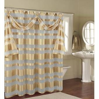 Irie Striped Single Shower Curtain With Images Shower Curtain