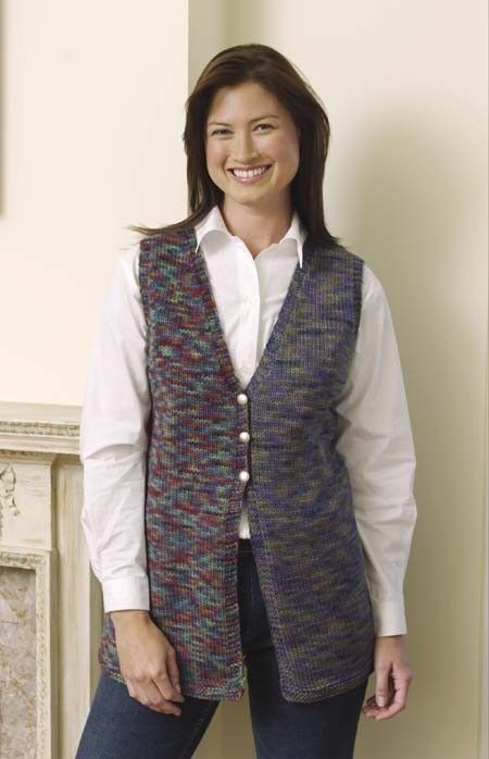 Ravelry Slimline Vest Pattern By Lion Brand Yarn New Knitter