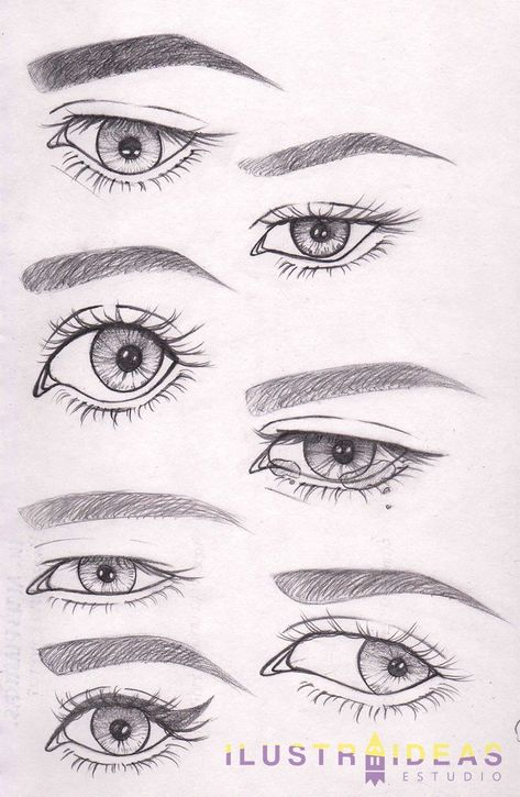 ¿Quieres aprender a dibujar ojos? Te enseñamos a dibujar ojos de personas anim… Do you want to learn to draw eyes? We teach you to draw eyes of lively people step by step.