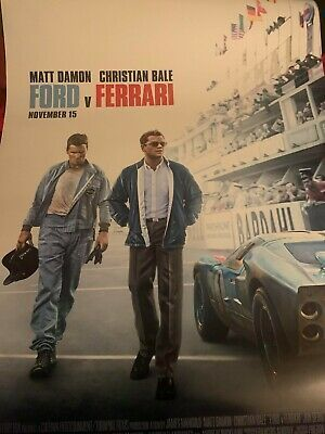Ford V Ferrari 2019 Original D S Movie Poster 27x40