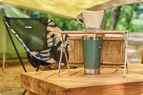 キャンプギアをdiy キャンプ仕様のコーヒードリップスタンド ドリップスタンド キャンプ キャンプ道具 収納