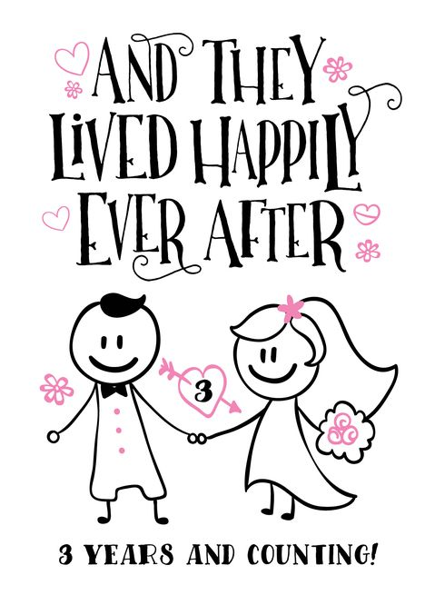 Anniversary They Lived Happily Ever After 3 Years And Counting Card Ad Sponsore Anniversary Quotes Funny Happy Anniversary Quotes 25th Anniversary Quotes