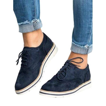 Women Platform Shoes Slip On Loafers Lady Plaids Trainers Casual Sports Sneakers